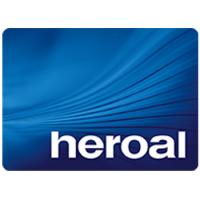 Het bedrijfslogo van Heroal, één van de partners van J. Meijering Montage