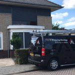 De werkbus van Johan voor een opgeleverd project | J. Meijering Montage uit Opheusden.